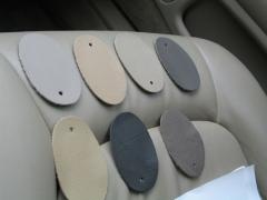 Lexus leather samples